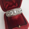 3.08ctw Art Deco OEC Diamond 5-stone Band 32