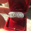 3.08ctw Art Deco OEC Diamond 5-stone Band 21