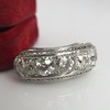 3.08ctw Art Deco OEC Diamond 5-stone Band 12