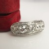 3.08ctw Art Deco OEC Diamond 5-stone Band 28