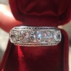3.08ctw Art Deco OEC Diamond 5-stone Band 19