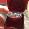 3.08ctw Art Deco OEC Diamond 5-stone Band 22