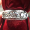 3.08ctw Art Deco OEC Diamond 5-stone Band 23