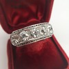 3.08ctw Art Deco OEC Diamond 5-stone Band 7