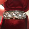 3.08ctw Art Deco OEC Diamond 5-stone Band 14