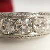 3.08ctw Art Deco OEC Diamond 5-stone Band 17