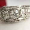 3.08ctw Art Deco OEC Diamond 5-stone Band 29