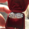 3.08ctw Art Deco OEC Diamond 5-stone Band 6