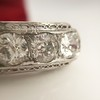 3.08ctw Art Deco OEC Diamond 5-stone Band 15