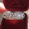 3.08ctw Art Deco OEC Diamond 5-stone Band 20