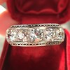 3.08ctw Art Deco OEC Diamond 5-stone Band 16