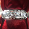 3.08ctw Art Deco OEC Diamond 5-stone Band 25