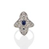 1.42ctw 3-Stone Old European Cut Diamond and Sapphire Ring 0