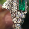 3.50ctw Art Deco Emerald and Old European Cut Diamond Dinner Ring 10