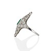 3.50ctw Art Deco Emerald and Old European Cut Diamond Dinner Ring 4