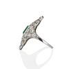 3.50ctw Art Deco Emerald and Old European Cut Diamond Dinner Ring 4