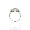 3.50ctw Art Deco Emerald and Old European Cut Diamond Dinner Ring 3