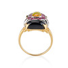 Art Deco Onyx and Harlequin Opal Dinner Ring 4