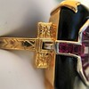 Art Deco Onyx and Harlequin Opal Dinner Ring 10