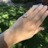 .83ctw Art Deco Transitional Cut Diamond & Sapphire Navette Ring 16