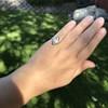 .83ctw Art Deco Transitional Cut Diamond & Sapphire Navette Ring 19