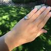 .83ctw Art Deco Transitional Cut Diamond & Sapphire Navette Ring 21
