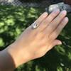 .83ctw Art Deco Transitional Cut Diamond & Sapphire Navette Ring 20