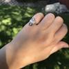 .83ctw Art Deco Transitional Cut Diamond & Sapphire Navette Ring 15