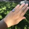 .83ctw Art Deco Transitional Cut Diamond & Sapphire Navette Ring 18