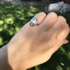 .83ctw Art Deco Transitional Cut Diamond & Sapphire Navette Ring 6