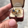 Diamond and Sapphire Double Serpent Ring 20