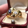 Diamond and Sapphire Double Serpent Ring 8