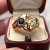 Diamond and Sapphire Double Serpent Ring 5