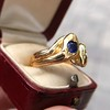 Diamond and Sapphire Double Serpent Ring 6