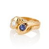 Diamond and Sapphire Double Serpent Ring 1