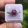Edwardian Cabochon Burmese No-Heat Ruby Dome Ring, AGL 30