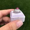 Edwardian Cabochon Burmese No-Heat Ruby Dome Ring, AGL 34