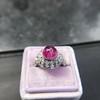 Edwardian Cabochon Burmese No-Heat Ruby Dome Ring, AGL 37