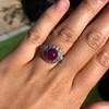 Edwardian Cabochon Burmese No-Heat Ruby Dome Ring, AGL 9