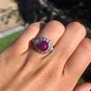 Edwardian Cabochon Burmese No-Heat Ruby Dome Ring, AGL 11