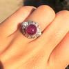 Edwardian Cabochon Burmese No-Heat Ruby Dome Ring, AGL 41