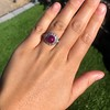 Edwardian Cabochon Burmese No-Heat Ruby Dome Ring, AGL 16