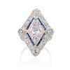 1.82ctw Edwardian Diamond Lozenge Dinner Ring 0