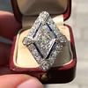 1.82ctw Edwardian Diamond Lozenge Dinner Ring 20