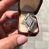 1.82ctw Edwardian Diamond Lozenge Dinner Ring 26