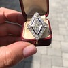 1.82ctw Edwardian Diamond Lozenge Dinner Ring 18