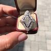 1.82ctw Edwardian Diamond Lozenge Dinner Ring 17