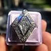 1.82ctw Edwardian Diamond Lozenge Dinner Ring 4