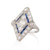 1.82ctw Edwardian Diamond Lozenge Dinner Ring 1