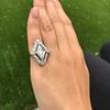 1.82ctw Edwardian Diamond Lozenge Dinner Ring 5